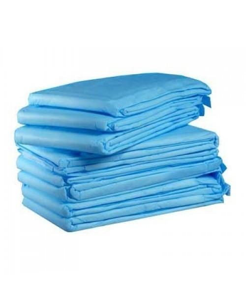 Disposable bed sheet blue non woven